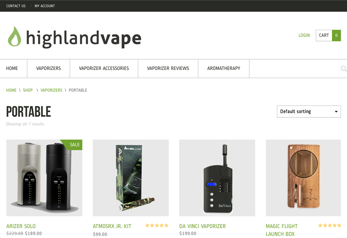 highlandvape web design